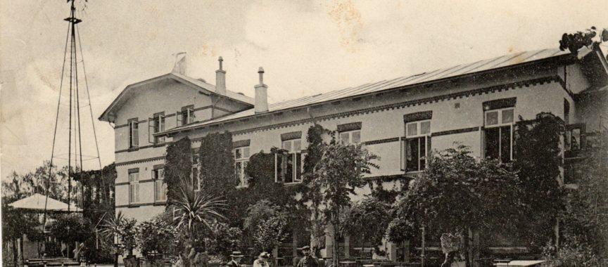 Der Gasthof Zur Alsterschlucht in Poppenbüttel auf einer historischen Postkarte