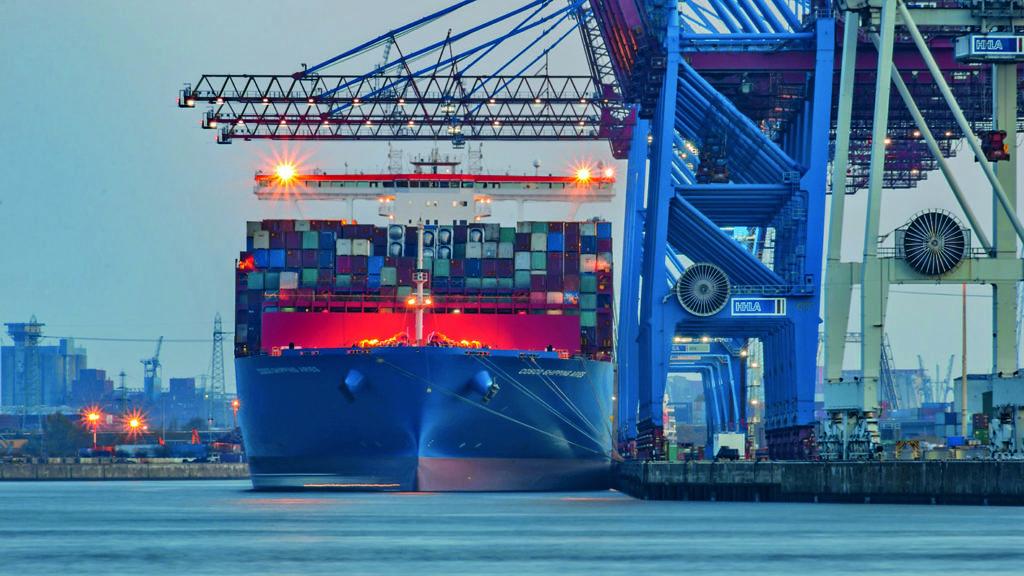 Deutscher Wetterdienst Containerschiff Hamburger Hafen