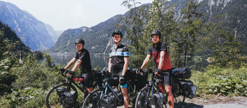 Henrik, Felix und Erik auf ihrer Radtour rund um Deutschland