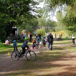 Fahrradtraining auf dem Moorredder in Volksdorf