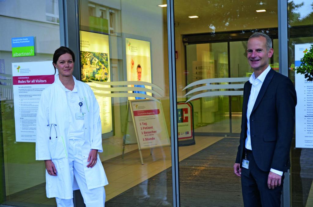Dr. Anne Hübner und Sascha Altendorf vom Amalie-Sieveking-Krankenhaus in Volksdorf