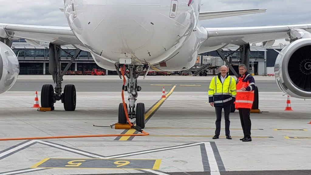 Flughafenvorfeld des Hamburger Flughafens