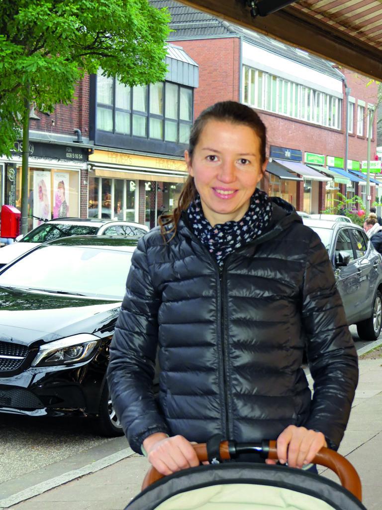 Ivona Buchmüller zum Thema Autofreier Volksdorfer Ortskern
