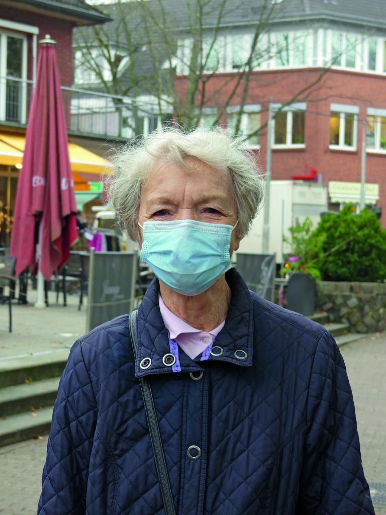 Sigrid Andersen zum Thema Autofreier Volksdorfer Ortskern