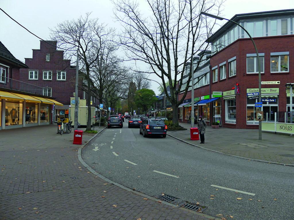 Volksdorfer Ortskern zum Thema Autofreies Volksdorf