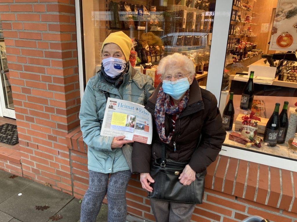 Die Austrägerinnen des Heimat-Echo in Volksdorf