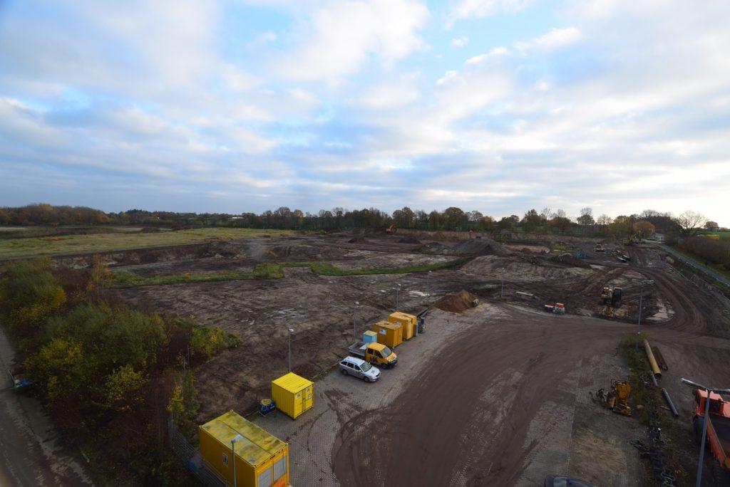 Gelände auf dem die Müllverbrennungsanlage gebaut werden soll
