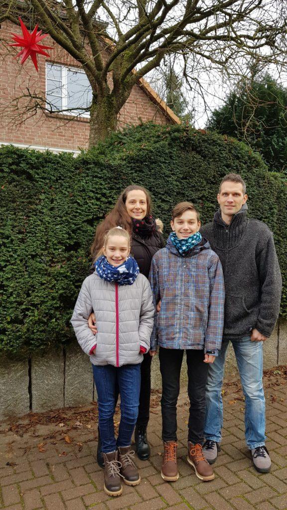 Mathilda, Birte, Anton und Robert Neumann