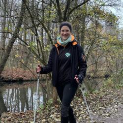 Nordic-Walking mit Trainierin Kristina Voß