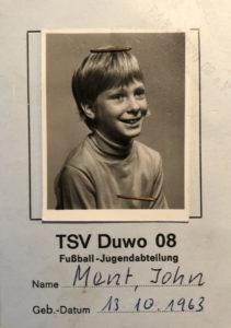 Spielerpass von John Ment beim TSV Duwo 08