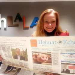 Dorothee Martin, SPD, auf Redaktionsbesuch im Heimatecho