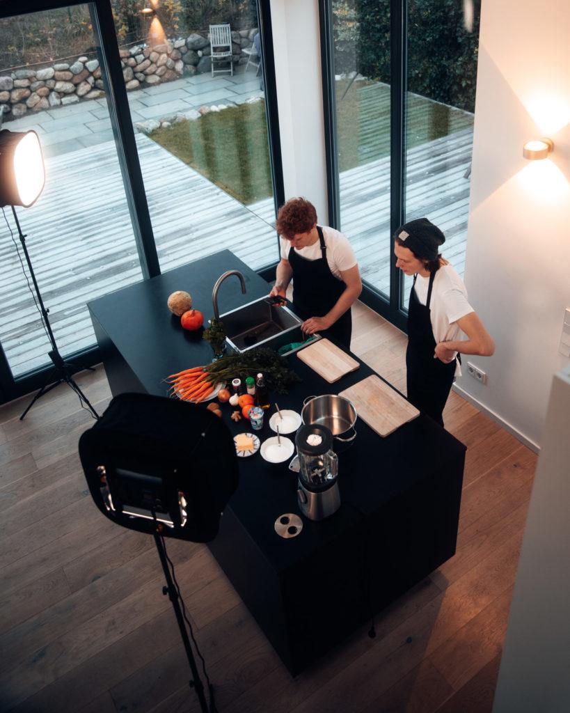 Das Kochstudio von Frederik und Fridtjof Helgetveit