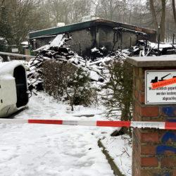 Die Bootshalle des Restaurant Ratsmühle in Ohlsdorf ist abgebrannt