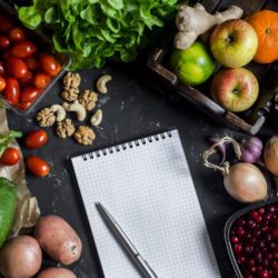Einkaufszettel frisches Gemüse