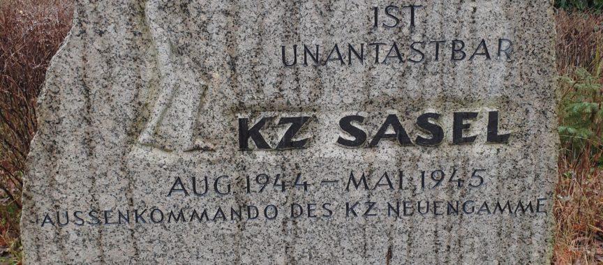 Gedenkstein der KZ Außenstelle in Sasel