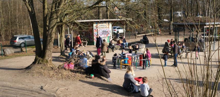 Der Spielplatz Schemannstraße ist beliebt. So oder ähnlich wird die Toilette aussehen