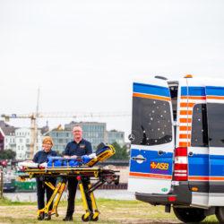 Der Wünschewagen des ASB Hamburg