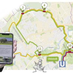 Karte der Entdeckertour-App von Dr. Susan Müller-Wusterwitz