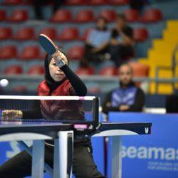 Galila Nasser vom SC Poppenbüttel spielt Tischtennis