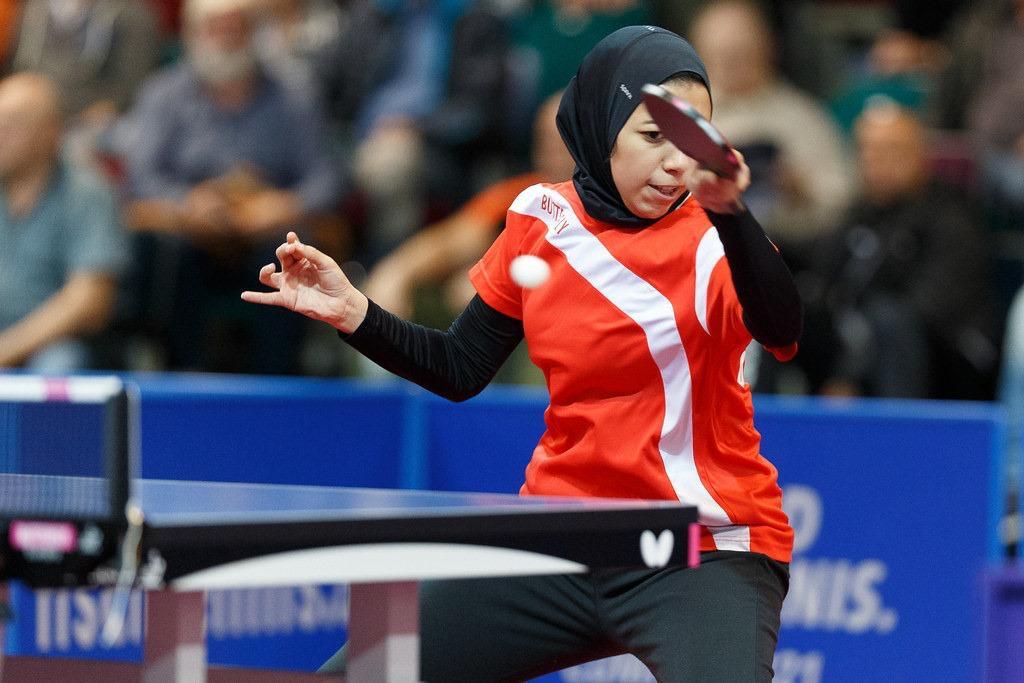 Galila Nasser spielt Tischtennis beim SC Poppenbüttel