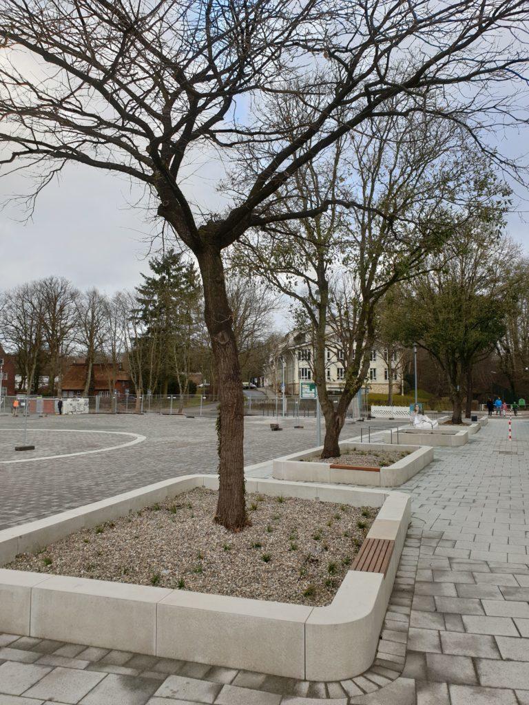 Der Volksdorfer Marktplatz nach der Fertigstellung