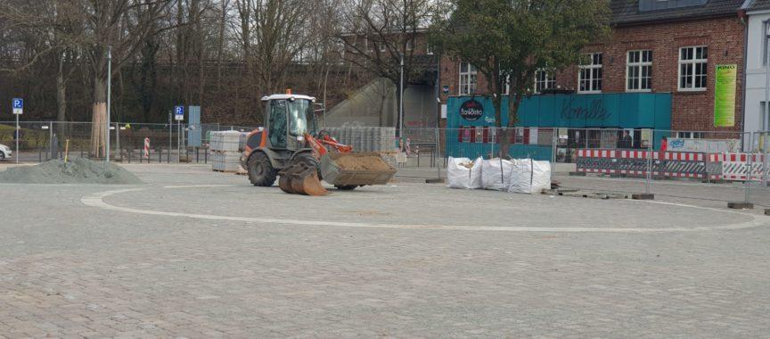 Volksdorfer Marktplatz im Bau