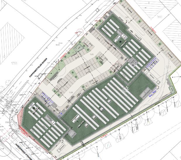 Lageplan des Bauvorhabens auf dem Teppich-Stark-Areal. Foto: Bezirksamt Wandsbek