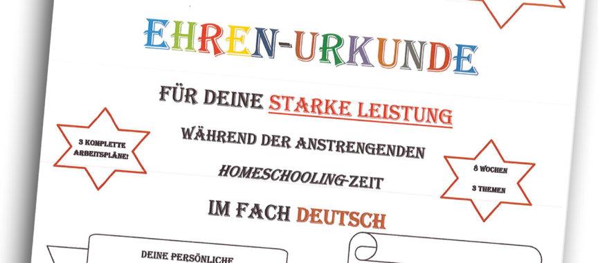 Ehrenurkunde für starkes Homeschooling