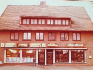 Der alte de Fries Imbiss an der Ecke Im Alten Dorfe - Wiesenhöfen in Volksdorf in den 70er Jahren