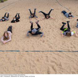 Schwimmtraining im Sand