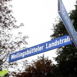 Schild Wellingsbütteler Landstraße