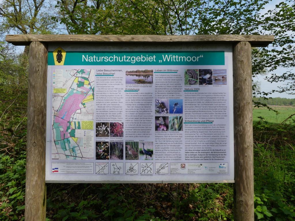 Wittmoor-Schild, Duvenstedt erleben