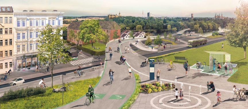 So sollen die neuen, breiten Radschnellwege aussehen