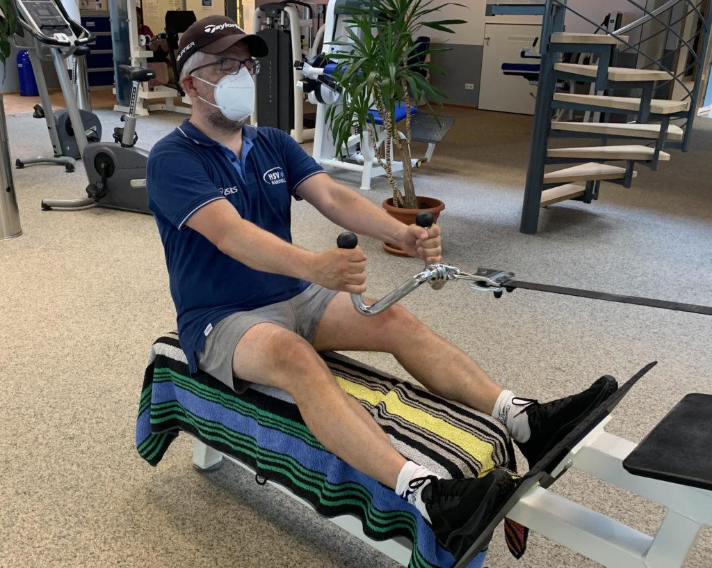 Sebastian Conrad macht erstes Fitnesstraining nach dem Lockdown beim Walddörfer SV