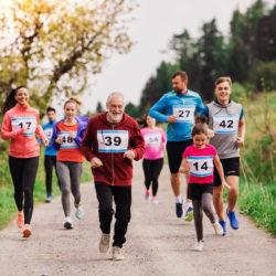 Laufende Gruppe für Sport Sonderseiten