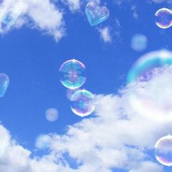 Himmel mit Seifenblasen Ausschnitt