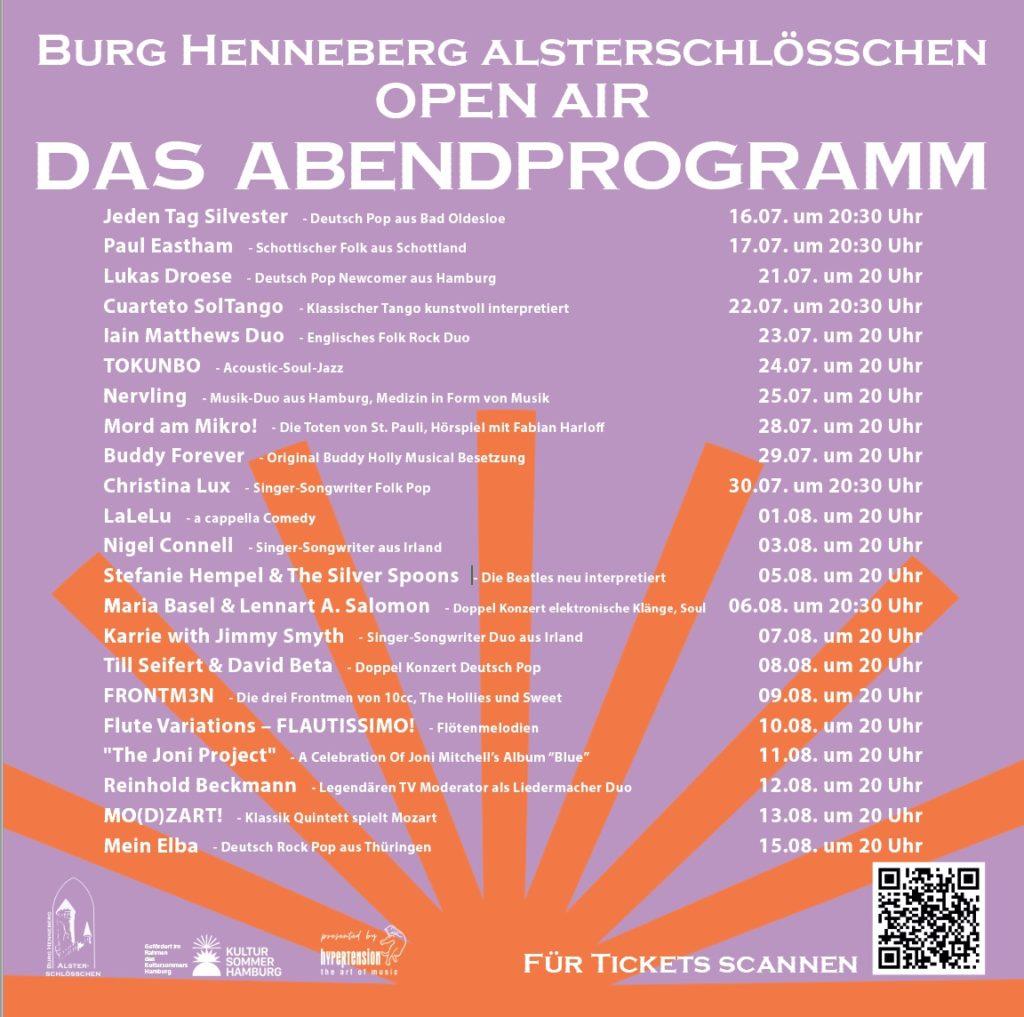 Das Abendprogramm auf Burg Henneberg