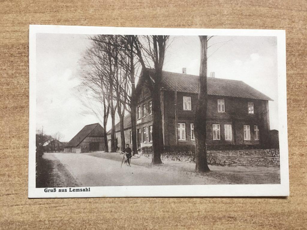 Alte Ansichtskarte von Lemsahl-Mellignstedt