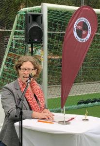 Dr. Heike Opitz beim Duvenstedter SV