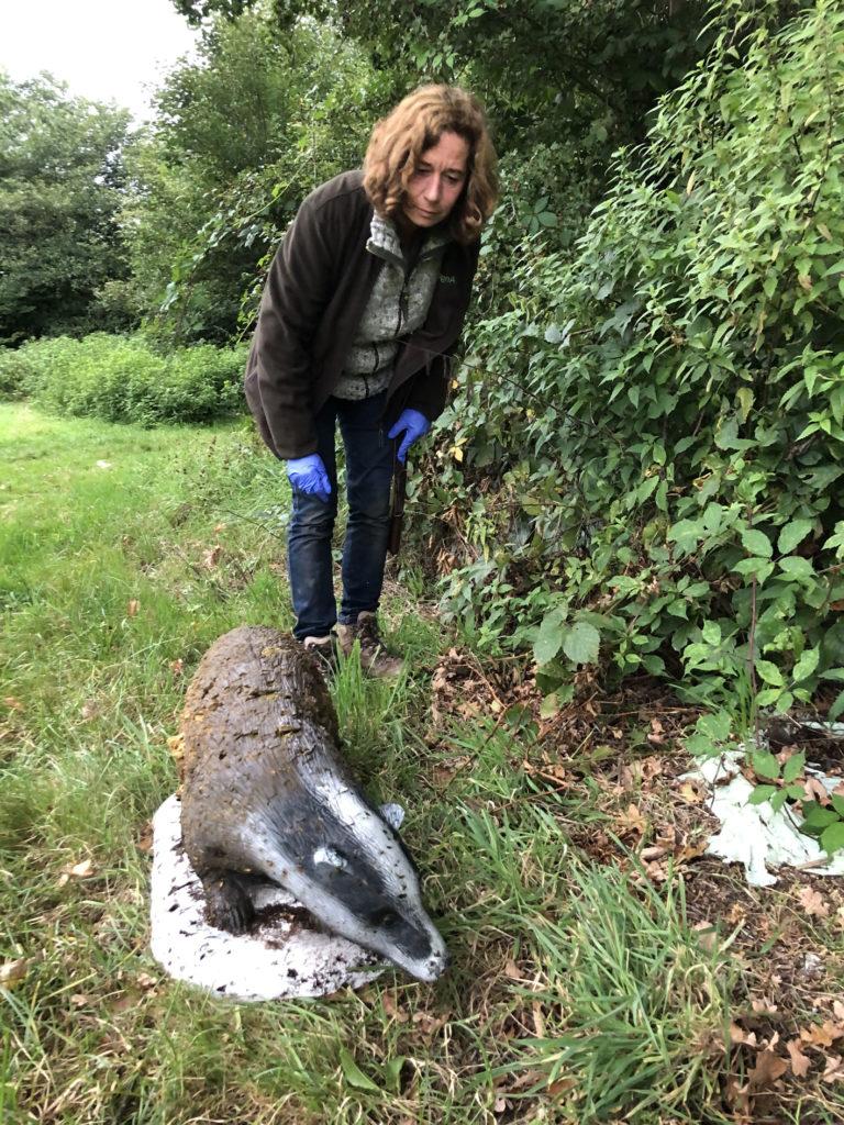 Jagdpächterin Angela Töben nach der Tierrettung 2