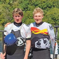 Lasse Johannsen (l.) und Paul Lukas Lüken freuen sich über zweimal Bronze.
