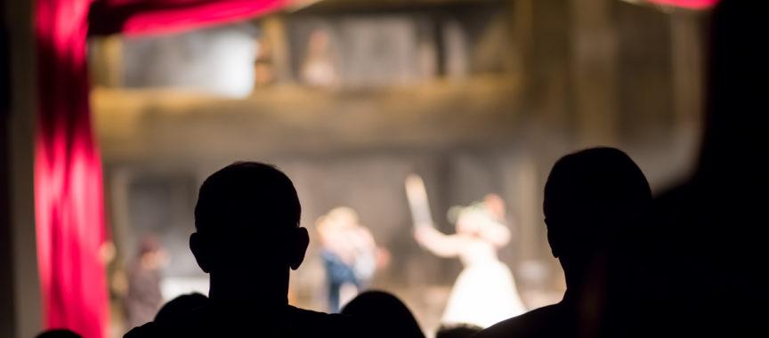 Theater, Musical, Zuschauer, Bühne, Vorhang