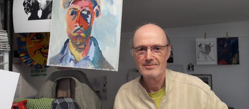 Thomas Klockmann in seinem Atelier in Allmende Wulfsdorf